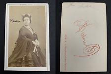 Disdéri, Paris, Princesse Mathilde Bonaparte CDV vintage albumen print.