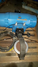 """Fisher Posi-Seal 14""""  A31A Butterfly Valve w/ Posi-Seal 1035 Actuator Unused"""