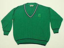 Celtic Country V-Neck Irish Sweater XL Green Acrylic Ireland Shamrock Clover