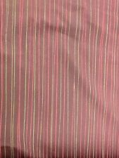 Osborne And Little Burgundy Stripe Curtain Fabric By The Metre