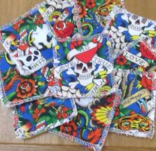 Reusable Make Up Remover Pads X 10 100% Cotton Ed Hardy True Love Blue Skull Eco