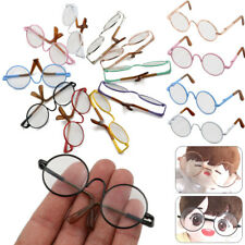 12/18 Inch Doll Glasses Round-Shaped Clear Lens Metal Frame Miniature Eyewear-