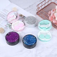 Portable Girls Lens Container Contact Lens Case Flowing Sequins Lens HolderB nh