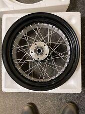 Black Rear Moto Iron TC Bros Harley Davidson 16 Inch Rear Wheel
