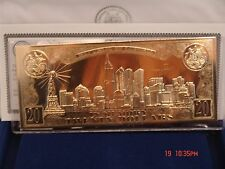 New USA 20 DOLLAR BILL 9/11 MEMORIAL EMBOSSED MINT CHOICE-GOLD PLATED or SILVER