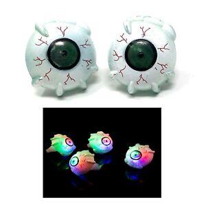 2 to 96 Crazy Eyeball Flashing LED Jelly Ring Light Up Finger Glow Wholesale UK