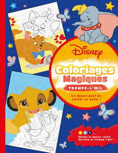 Disney Favorites Magic Adult Colouring Book French Colour By Number Mystery