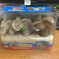 3x Fisher-Price Little People Elephant FAMILY ZOO TALKERS figure baby doll gift