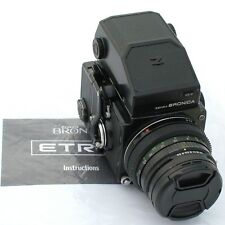 Bronica ETR-C/75 mm f2.8 E-II/AE-II Prism/120/manovella, condizioni eccellenti
