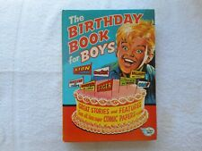 THE BIRTHDAY BOOK for BOYS . 1972 -   Hardcover  (With printing omission - rare)