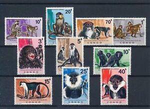 [35476] Congo 1971 Monkeys Good set Very Fine MNH stamps $105