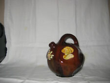 "Antique PETERS & REED American Art Pottery Brown Glaze 6 1/2"" T JUG  Cavalier"