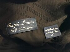 ORIGINAL VTG Ralph Lauren GOLF Collection Mens Large Black Polo Shirt ITALY L