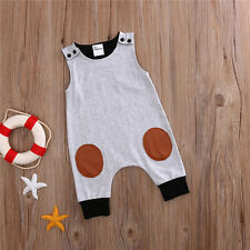 Top Baby Kids Boy Girl Infant Romper Bodysuit Cotton Clothes Outfit 6-12Months