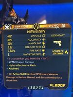 "Borderlands 3 Legendary Weapon LVL 50 ""Infinity Pistol"" Anointed Xbox One"