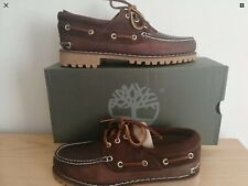 Timberland Classic Mens 3eye Brown Leather Lug Boat Shoes A15XX