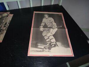 st-louis blues vintage phil goyette  # 11 black & white poster very rare hockey