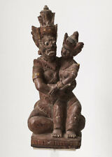 Antique Bali woodcarving Hanoman and Sita