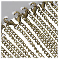 """12 Bronze Tone Lobster Clasp Chain Necklace 3.5x2.6mm 18"""" W3N4"""