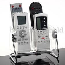Clear TV Remote Control Phone Key Pen Glasses Storage Box Stand Holder Organizer