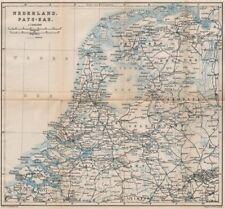 HOLLAND NEDERLAND PAYS-BAS General map. Netherlands kaart. BAEDEKER 1897