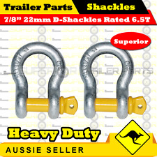 "Superior 7/8"" 22mm Galvanized D-Shackle Rated 6500kg - Boat Trailer Marine"