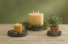 CRIMPED METAL CANDLE CLOCHE PANS BASES SET OF 3 by Park Designs 20-445