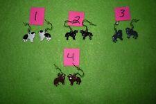 Newfoundland Dog Earrings 1 Pr