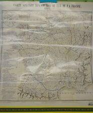 Poster ATLAS F- Carte Spéciale des Chemins de fers de la France 1845 - 44x50cm