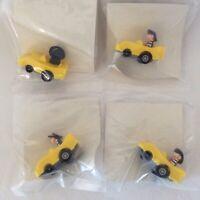 4 Vintage McDonalds Happy Meal Toys Turbo Macs Hamburglar in Yellow Racer New