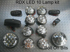 RDX LED 10 CLEAR Side Repeaters Numberplate lamps Defender 1998-2016 Td5/Tdci D
