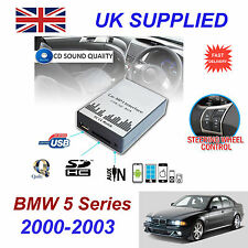 BMW 5 00-03 E39 MP3 SD USB CD AUX Input Audio Adapter Digital CD Changer Module
