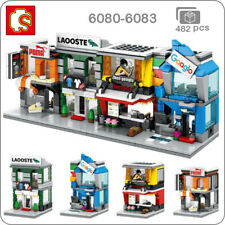 Sembo City Street Computer Food Clothes Sports Shop DIY Blocks Building Toy 4Pcs