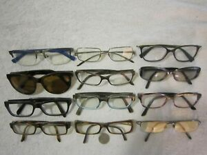 Mix Lot of 12 Chanel-Seraphin-A/X-Burberry-Bvlgari Eyeglasses Women Men BIG WIDE
