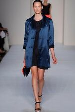 NWT MARC BY MARC JACOBS SzS SUZIE REVERSIBLE SILK/COTTON COAT DEEP MIDNIGHT $568
