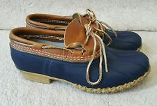 LL Bean Boots Mens low Duck Boots BLUE /Navy sz 8 mudducks Rubber Moc