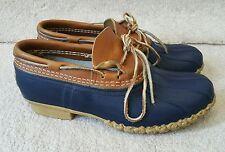 LL Bean Boots Mens low Duck Boots BLUE /Navy sz 8 mudducks Rubber Moc