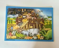 Vtg RARE Ravensburger Didacta Jigsaw Interchangable Puzzle Noah's Ark W Germany