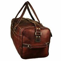 Overnight Weekender Leather Travel Vintage Leather Duffle Bag Handcrafted