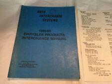 Chrysler Dodge Plymouth Desoto Imperial  Interchange Manual Book 1950-65 +