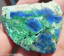 Azurite rough slab associated minerals copper world mine vibrant blue 22.5 grams