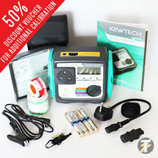 Kewtech KT72 Battery Operated PAT Tester KIT45 + FREE Accessories + CALIBRATION