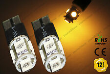 2x T10 w5w 501 LED Police Strobe Flash Bulbs Amber Parking Lights Position Lamps