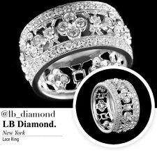 DIAMOND LACE RING 0.97CT ROUND CUT DIAMONDS IN 18K WHITE GOLD