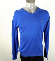 Penguin Blue 100% Cotton V Neck Jumper Medium
