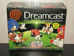 Official Sega Dreamcast Sonic Bundle Version System Console Box Only
