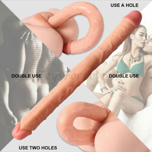 Double Ended Dildo Sex Toys 15.9 Inch Penetration Dildo Double Dong Massager