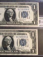 2 1934 $1 FUNNYBACKS CONSECUTIVE AU