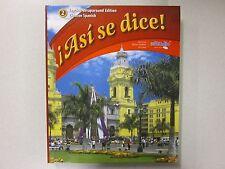 Asi se dice! Glencoe Spanish 2 Teacher's Edition 2012 Glencoe New 0076604284