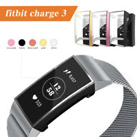 Protective Shell TPU Case Cover Screen Protector For Fitbit Charge 3 *